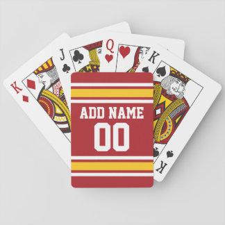 Sports Team Football Jersey Custom Name Number Poker Deck