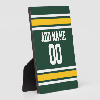 Sports Team Football Jersey Custom Name Plaque