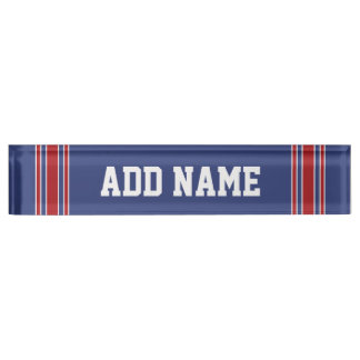 Sports Team Jersey with Custom Name and Number Nameplate