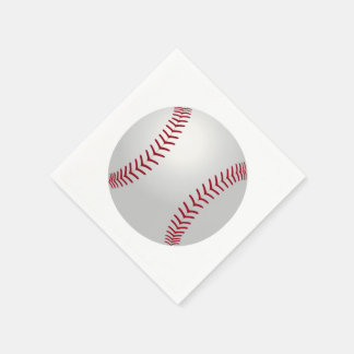 Sports Theme Baseball Paper Napkins Standard Cocktail Napkin