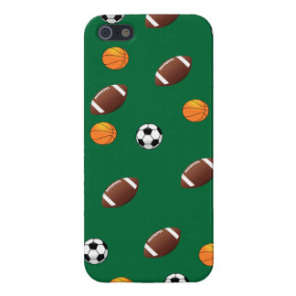 Sports Theme Green Background  iPhone5 Case