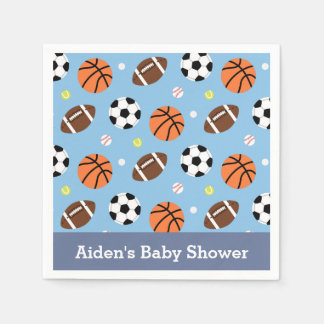Sports Themed Baby Shower Party Supplies Disposable Napkin