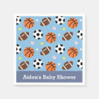 Sports Themed Baby Shower Party Supplies Napkin