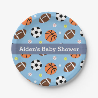 Sports Themed Baby Shower Party Supplies Paper Plate