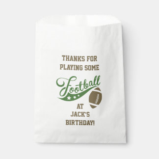 Sports Themed Favour Bags with Football