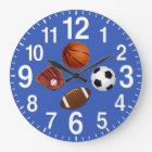Sports Themed Wall Clocks in YOUR COLOR