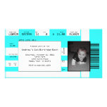 Sports Ticket Invite CHOOSE YOUR BACKGROUND COLOR Personalized Photo Card