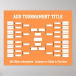 Sports Tournament Bracket Print