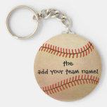 Sports vintages, joueur de baseball, attrapeur porte-clefs