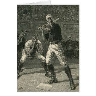 Sports vintages, joueurs de baseball antiques carte