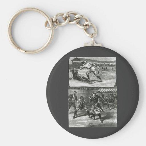 Sports vintages, les équipes de baseball victorien porte-clés