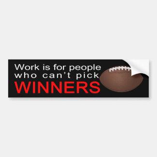Sportsbetting bumper sticker