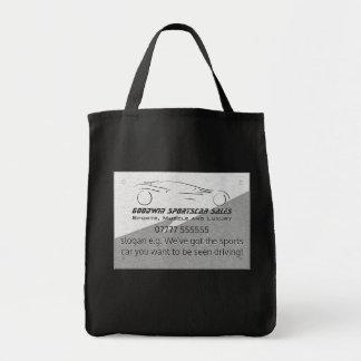 Sportscar Sales giveaway, metal-look, silver logo Tote Bag