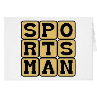 Sportsman, Participating Player Greeting Card