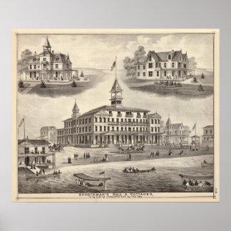 Sportsman s Hall Cottages Print