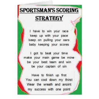 Sportsman s Scoring Strategy card