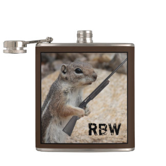Sportsman Squirrel Customizable Flask