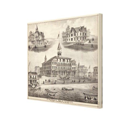 Sportsman's Hall & Cottages Canvas Prints