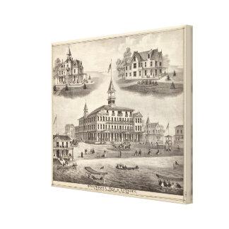 Sportsman's Hall & Cottages Canvas Print