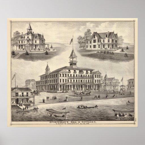 Sportsman's Hall & Cottages Print