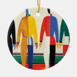 Sportsmen by Kazimir Malevich Ceramic Ornament