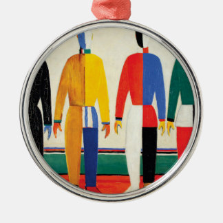 Sportsmen by Kazimir Malevich Metal Ornament