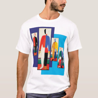 Sportsmen by Kazimir Malevich T-Shirt