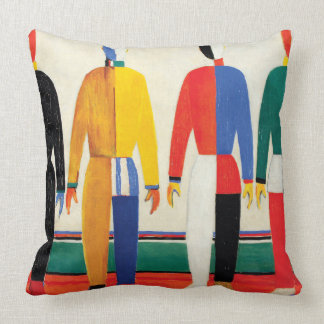 Sportsmen by Kazimir Malevich Throw Pillow