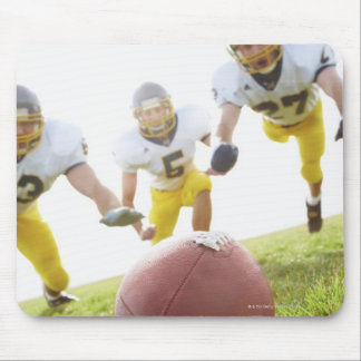 sportsmen playing with a rugby ball mouse pads
