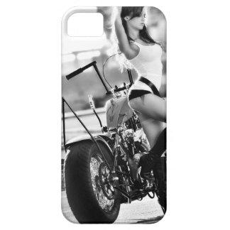 Sportster, Ol School Chopper, Motorcycle, Girl iPhone 5 Case
