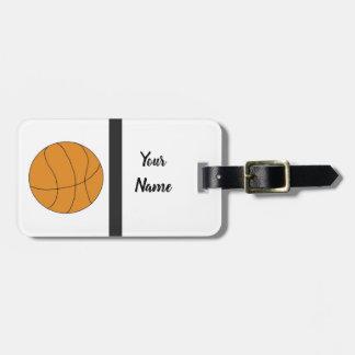 Sporty Basketball Luggage Tag