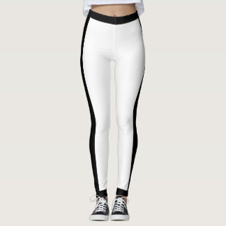 Sporty Black and White Leggings