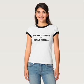 Sporty Chick+Girly Girl Women's Ringer tee
