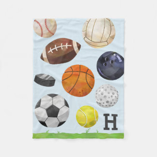 Sporty Cluster Monogram Fleece Blanket