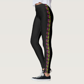 Sporty Confetti Color Blocks Strip Leggings
