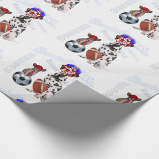 Sporty Dogs for Pet Lovers Papillon and Dalmation Wrapping Paper