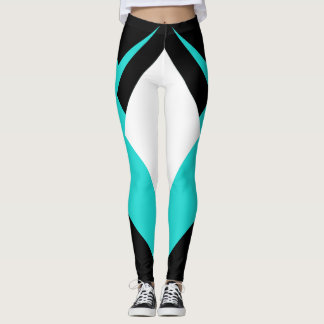 Sporty Fashion Sports Leggings Turquoise Runners
