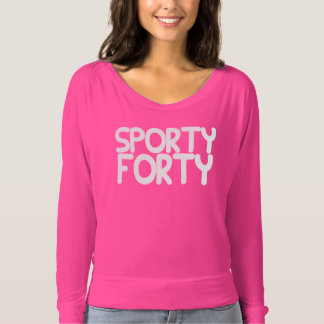 SPORTY FORTY Graphic BIRTHDAY Tee