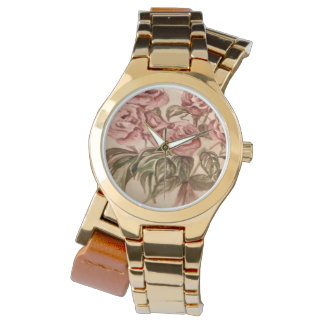 Sporty Gold Rose Wrap Around Watch