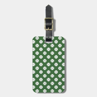 Sporty luggage tag with tennis ball pattern