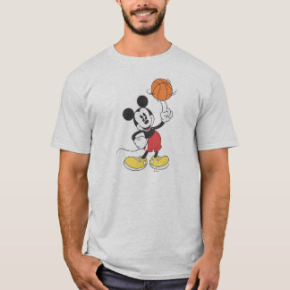 Sporty Mickey | Spinning Basketball T-Shirt