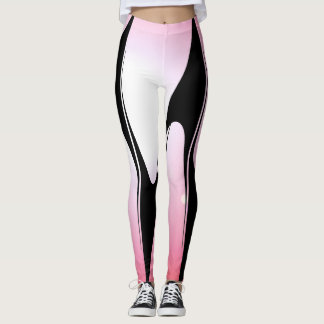 Sporty Pink Modern Tech Chic Fashion Sports Leggings