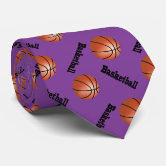 Sporty Purple Background | Basketball Tie
