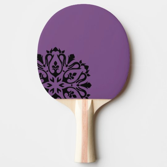 Sporty rocket with Mandala / purple Ping-Pong Paddle