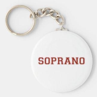 Sporty Soprano in Red Keychain