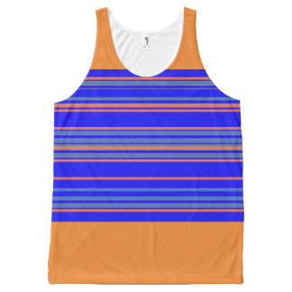 Sporty-Stripes-Blue-Orange(c)-Tank-Top All-Over-Print Tank Top