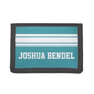 Sporty Stripes Personalized Kids Boys Wallet