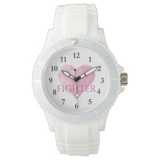 Sporty White Silicon Watch, Fighter Watch
