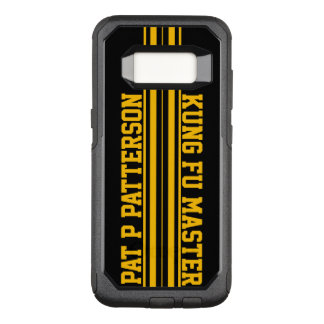 Sporty Yellow Stripe Name Template OtterBox Commuter Samsung Galaxy S8 Case