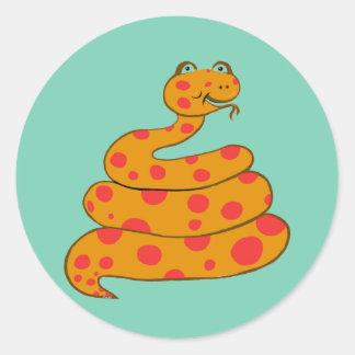 Spot the Snake Classic Round Sticker